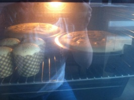 No I did NOT sit outside the oven door. I did NOT make extra cupcakes specifically for tasting purposes.